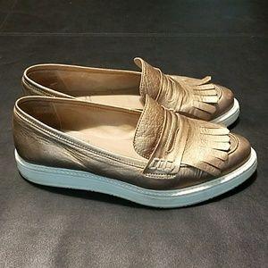 a8203d7c5880 Anthropologie Shoes - Anthropologie KMB Rose Gold Platform Loafers